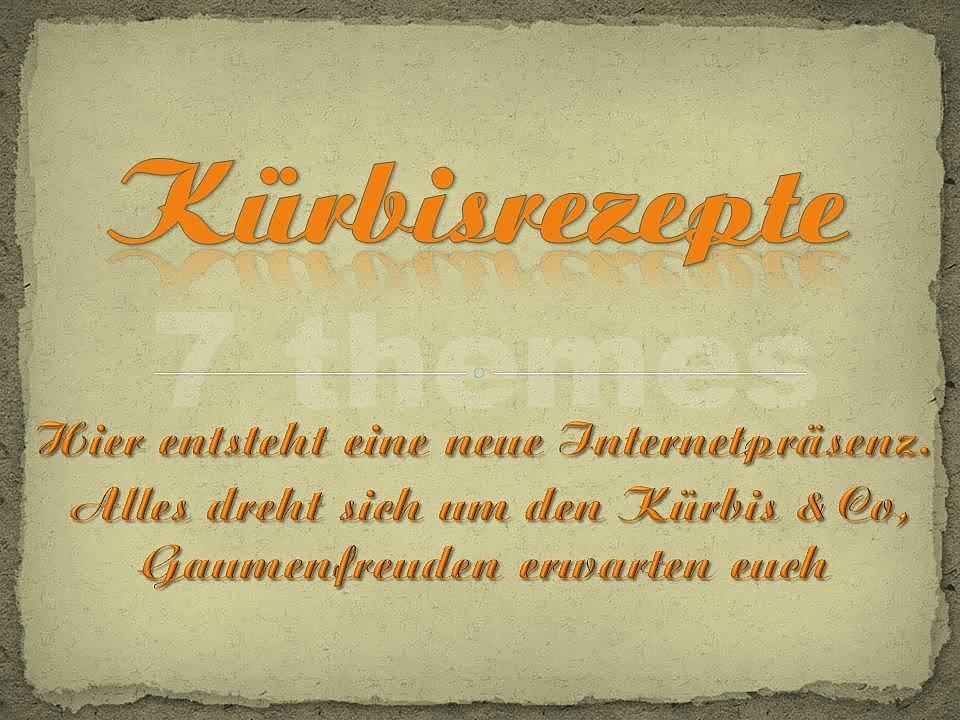 Kürbisrezepte auf www.7themes.de.